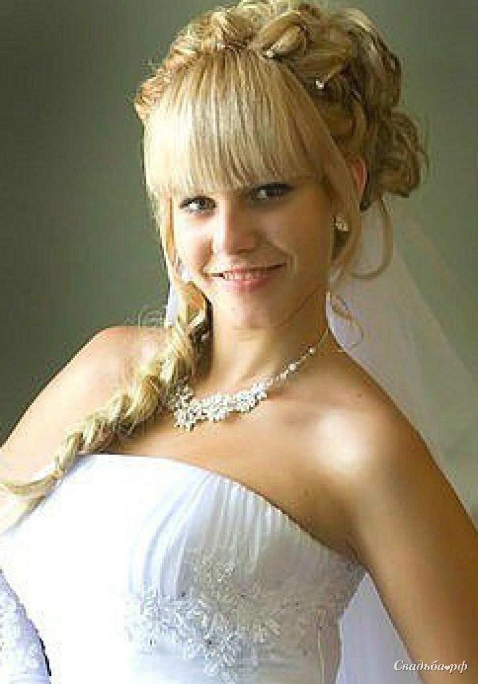На свадьбу с челкой фото